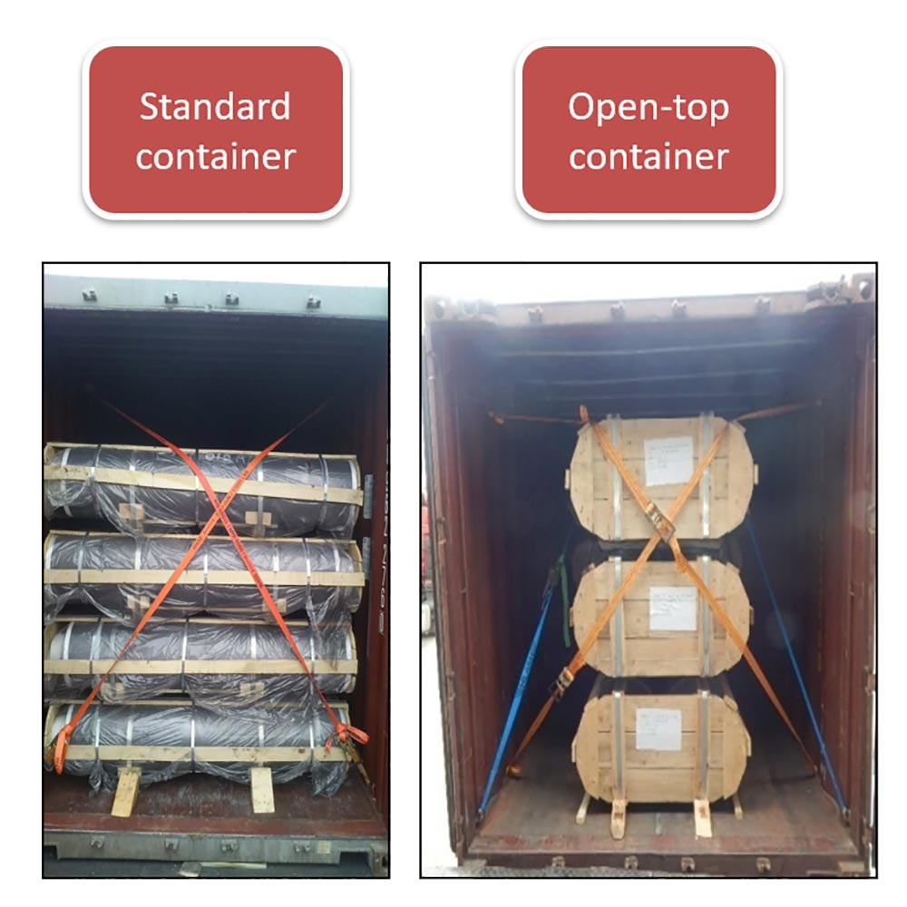 Loading scheme for standard container & open-top container